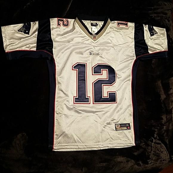 Women's White Reebok Tom Brady Jersey